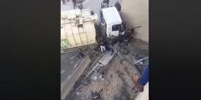 فيديو- إصابة 3 أطفال إثر انزلاق شاحنة عليهم بالقدس