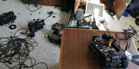 100 الاف دولار خسائر الاعتداء على مقر الهيئة في غزة