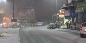 بدء تساقط الثلوج على العديد من المناطق