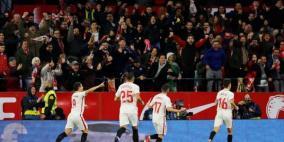 إشبيلية يصطاد برشلونة في ليلة غياب ميسي