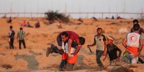 اصابة طفل بقنبلة غاز أطلقها جنود الاحتلال وسط غزة