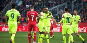 فيديو.. برشلونة يحقق فوزا صعبا على جيرونا