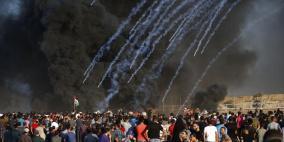 32 اصابة برصاص الاحتلال في مسيرات العودة
