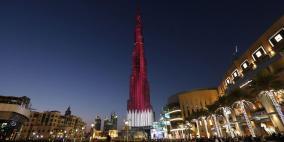 فيديو.. برج خليفة يتزين بعلم قطر بعد تتويجها بكأس آسيا