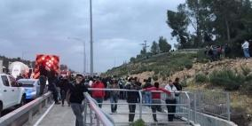 إصابة 10 عمال بحادث سير غرب القدس