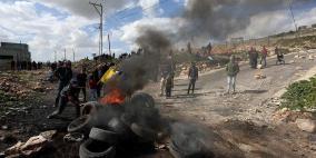 بالصور.. مواجهات بين المواطنين وقوات الاحتلال في كفر قدوم