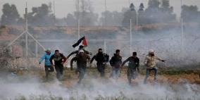 20 اصابة برصاص الاحتلال على حدود غزة