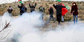 عشرات الاصابات بالاختناق خلال قمع الاحتلال مسيرة بلعين