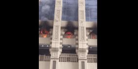 فيديو: حريق ضخم في أبراج مكة