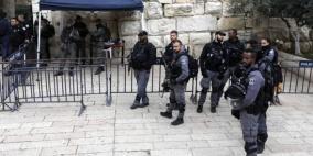 انتشار واسع لقوات الاحتلال في محيط الأقصى