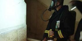 اخلاء 11 عائلة اثر حريق بعمارة سكنية في الرام