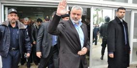 وفد حماس برئاسة هنية يختتم زيارته للقاهرة
