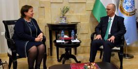 الحمد الله يطالب الاتحاد الأوروبي بالضغط على إسرائيل لوقف اقتطاع الضرائب