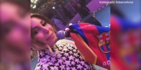 """فيديو.. برشلونة ينشر أغنية """"حبيبي برشلوني"""" بصوت نجمة لبنانية"""