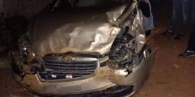 مصرع سيدة واصابة حفيديها بحادث سير في نابلس