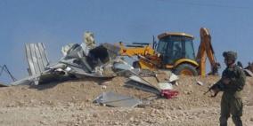 الاحتلال يهدم خيمة في مسافر يطا
