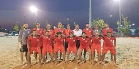 منتخب فلسطين للكرة الشاطئية يكتسح تايلاند بخماسية