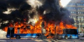 انفجار حافلة وسط العاصمة السويدية