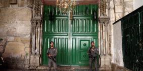 قوات الاحتلال تغلق أبواب الأقصى