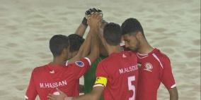 منتخب فلسطين يصل نصف نهائي كأس آسيا للكرة الشاطئية