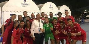 منتخب فلسطين يودع بطولة آسيا للكرة الشاطئية
