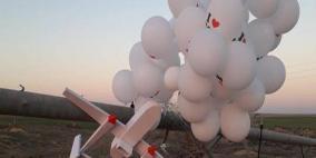 """سقوط بالونات تحمل طائرة أطلقت من غزة في """"أشكول"""""""
