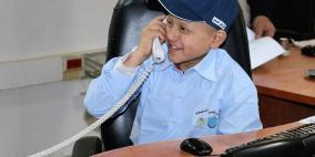 طفل من غزة مديرا لشرطة نابلس