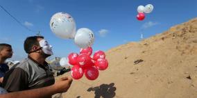 """استمرار اطلاق البالونات الحارقة تجاه """"غلاف غزة"""""""