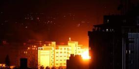تدمير مقر الامن الداخلي الرئيسي بغزة