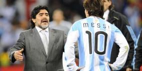 ميسي أم مارادونا.. أساطير الكرة يحددون الافضل