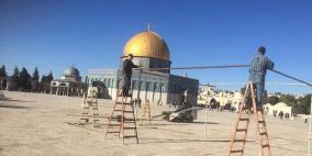 صور: استعدادات في المسجد الأقصى لشهر رمضان المبارك