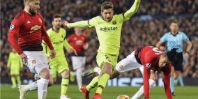 برشلونة يتفوق على مانشستر يونايتد في ذهاب ربع نهائي  الأبطال