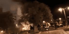 حريق على سطح المصلى المرواني بالأقصى