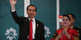 رئيس إندونيسيا يعلن فوزه في الانتخابات الرئاسية