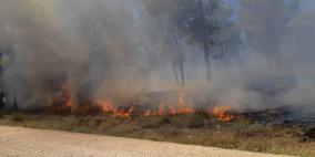 """اندلاع حريق في """"أشكول"""" ومحاولة تسلل على حدود غزة"""