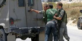 قوات الاحتلال تعتقل مواطنا جنوب قلقيلية