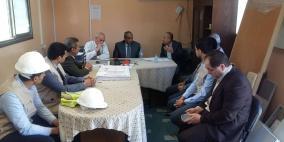 خاص.. وزير الأشغال يتفقد مشروع بمستشفى الشفاء في غزة