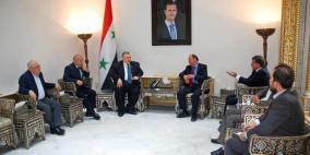 فلسطين وسوريا تبحثان أوضاع المخيمات الفلسطينية