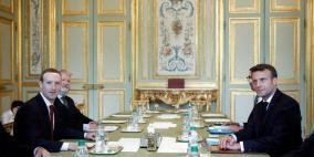 """زوكربرغ يلتقي الرئيس الفرنسي لمواجهة """"خطاب الكراهية"""""""