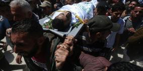 تشييع جثمان الشهيد عبد العال جنوب القطاع