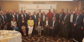 الغرفه التجارية الفلسطينية الأمريكية تبحث مع  العسيلي التحديات الاقتصادية