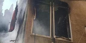 3 إصابات باحتراق بناية سكنية بالحليصة في حيفا