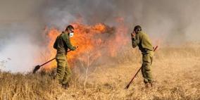 (صور).. المزيد من الحرائق في مستوطنات محيط غزة
