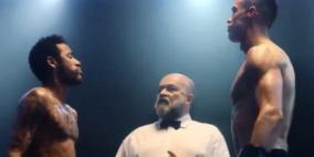 فيديو: كرستيانو رونالدو ونيمار وجها لوجه في حلبة مصارعة