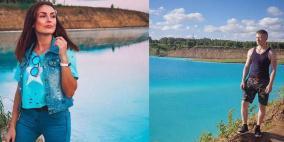 """سياح يتوافدون لبحيرة """"سامة"""" من أجل """"سيلفي"""""""