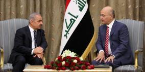 اشتية يلتقي الرئيس العراقي