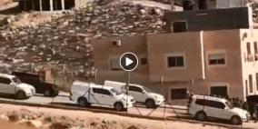 للمرة الثانية: الاحتلال يأخذ قياسات المباني المهددة بالهدم في حي وادي الحمص