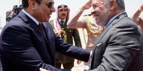 فلسطين أولوية في قمة السيسي وملك الأردن
