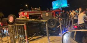 وفاة مواطن ونجله واصابة ثالث بجروح خطيرة في حادث سير مروع