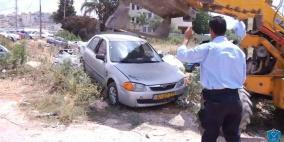 الشرطة تتلف 92 مركبة غير قانونية في القدس